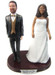 Plus sized bride cake toppers custom made