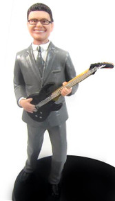 Electric Guitar Groom Cake Topper Figurine