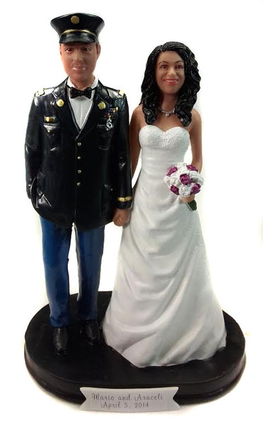 Army Officer Classic Wedding Cake Topper