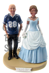 Custom Cinderella Wedding Cake Topper