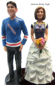 Hockey Groom w/ Sports Jersey Bride