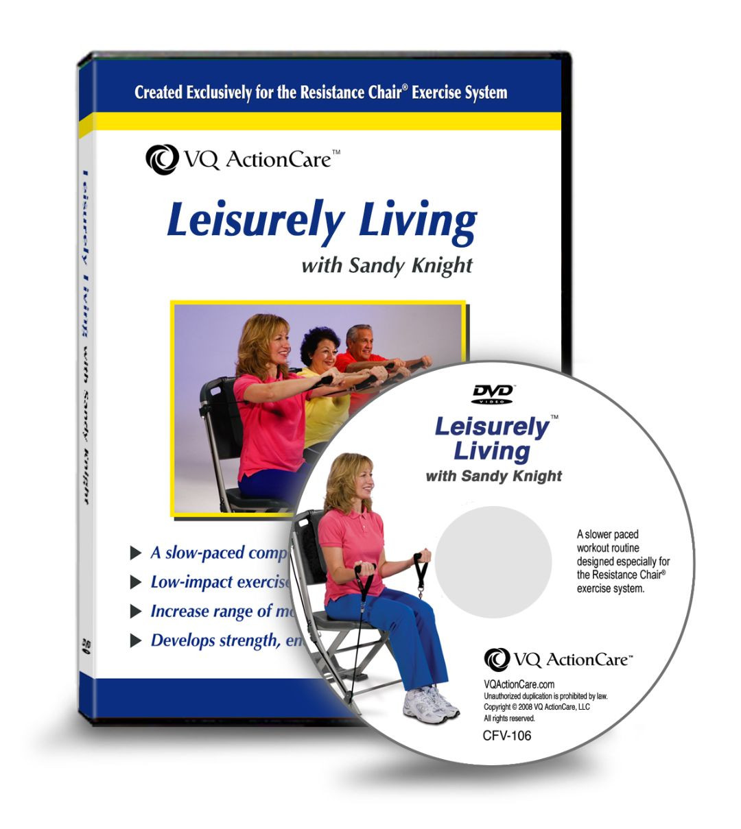Leisurely Living Dvd Resistance Chair Exercise System