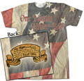 Patriotic and Prolife Graphic Poly T Shirt