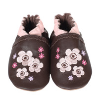 Robeez Sweet Girl Soft Soles, Brown, Girls, 0-24 Months