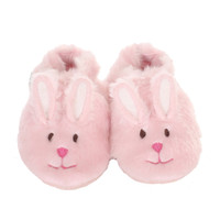 Robeez Fuzzy Bunny Soft Soles, Pink, Girls, Baby, Infant, Pre-Walker, Toddler, Shoes,  0 - 24 Months