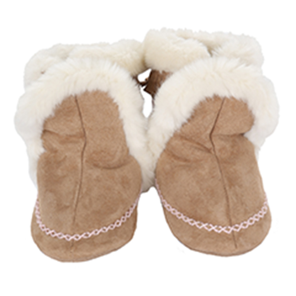 Robeez Fab Folk Bootie Soft Soles, Taupe, Girls, Baby, Infant, Pre-Walker, Toddler, Shoes, 0-24 Months