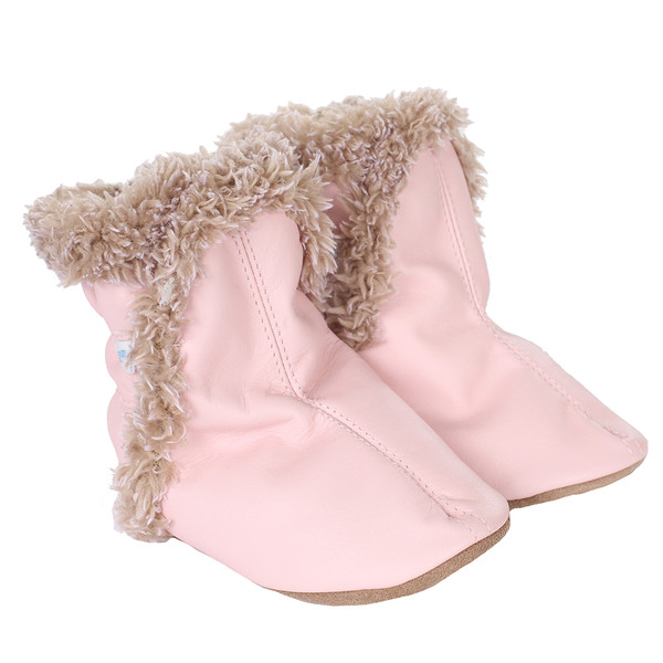 Robeez Classic Bootie Soft Soles, Pink, Girls, Baby, Infant, Pre-Walker, Toddler, Shoes,  0-24 Months, side