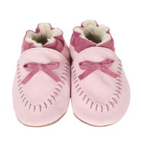 Robeez Cozy Moccasin Soft Soles, Pink, Girls, Baby, Infant, Pre-Walker, Toddler, Shoes, 0-24 Months