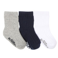 Boys Basic Socks, 3-Pack