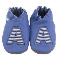 Monogram Baby Shoes, Blue