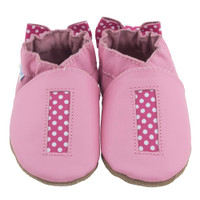 Polka Dot Baby Shoes, Pink, 6 - 12 Months Only