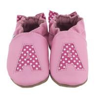 Monogram Baby Shoes, Pink