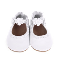 Claire Mary Jane Baby Shoes, White