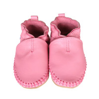 Premium Leather Classic Moccasin, Pink