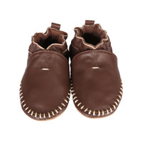 Premium Leather Classic Moccasin, Brown