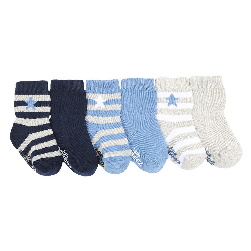 Rugby Star Baby Socks, 6 Pack   Robeez