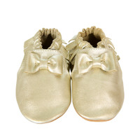 Premium Leather Maggie Moccasin, Gold