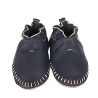 Premium Leather Classic Moccasin, Navy
