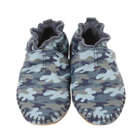 Premium Leather Moccasin, Camo
