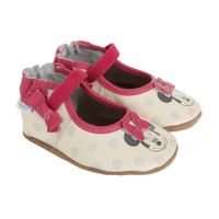 Minnie Mouse baby shoes.  Disney Baby collection.  Soft Soles for babies, infants and toddlers.