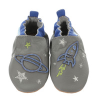 Space and Stars Baby Shoes, Soft Soles