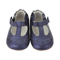 Navy girl t-strap baby shoes