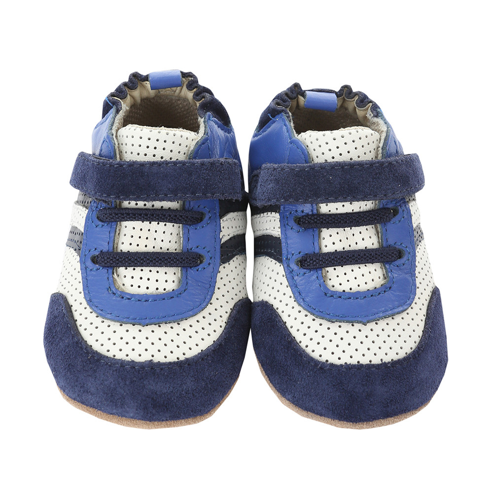 navy white baby shoes athletic