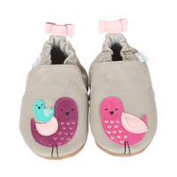 Peaceful Partridge Baby Shoes, Soft Soles