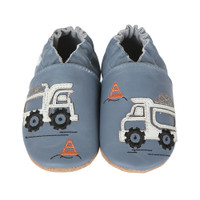 Little Dump Truck Baby Shoes, Soft Soles