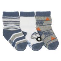 Mini Dumptruck Baby Socks, 3-Pack