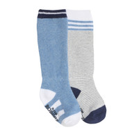 Cool Blue Baby Socks, 2-Pack