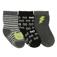Masked Heroes Baby Socks, 3-Pack
