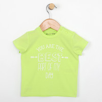 Green ruffle short sleeve t-shirt for baby or infant girls