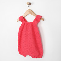 Pink romper one piece for babies and infants, part of our baby apparel collection