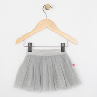 Grey tutu skirt for infants and babies.