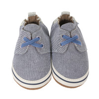 Navy canvas soft soled infant shoes