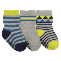 Cotton socks for baby, infants and toddlers.  Stay on socks. Size 0 - 24 months