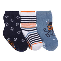 Cotton socks for babies, infants and toddlers.  Easy on and stay on.  Kickproof infant socks.