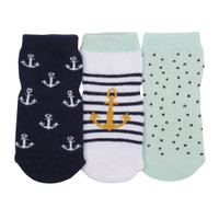 Anchors Aweigh Baby Socks, 3-Pack