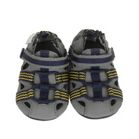 Grey PU infant shoes with PU and rubber sole.   These baby shoes are good for children ages 0 - 24 months who are crawling or beginning to learn to walk.