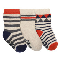 Boys cotton socks for babies, infants and toddlers ages 0 - 24 months.