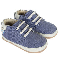Baby, infant and toddler shoes in navy canvas.  Mini Shoes.