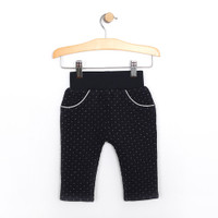 Girl's Pants for babies, infants and toddlers in navy.  Quilted.