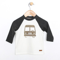 Baseball shirt for baby , infant and toddler boys and girls.