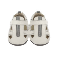 Front view of Rugged Rob Baby Shoes, a boys soft soled shoe with split rubber out sole for added support for beginner walkers.