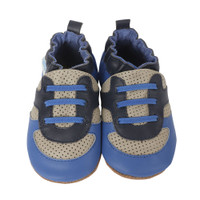 Soft soled baby shoe designed to look like an athletic sneaker.  For baby, infant and toddler girls.