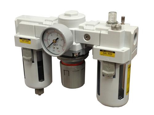 PneumaticPlus SAU4000 Series Filter Regulator Lubricator Combo (FRL) Unit  3/4