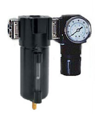 "Arrow Pneumatics C33054W Air Filter Regulator Modular Combo 1/2"" NPT - Metal Bowl with Sight"