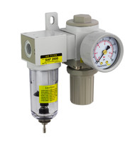 "PneumaticPlus SAU Series Mini Air Filter Regulator Modular Combo 1/4"" NPT (SAU2020M-N02G)"