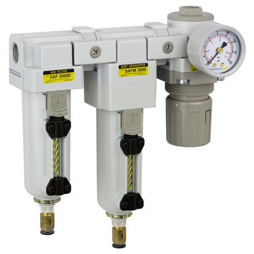 "PneumaticPlus Three Stage Air Drying System 3/8"" NPT (SAU3030M-N03DG-MEP)"